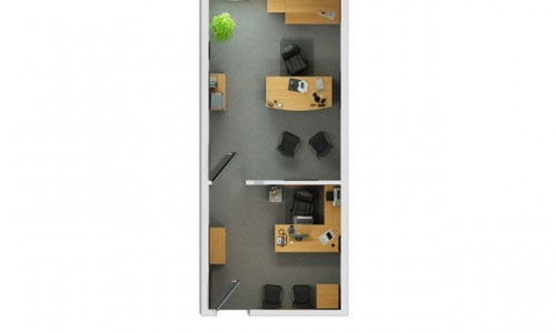 Split Single Office Suite